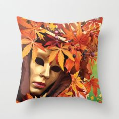 Mask Throw Pillow Venetian mask Carnival of Venice Art by NikaLim, ₪110.00