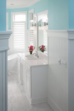 color for walls in half bath? blue bauble by sherwin williams similar