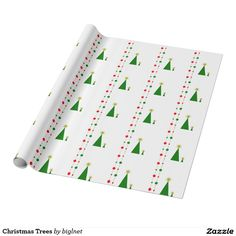 Christmas Trees Wrapping Paper
