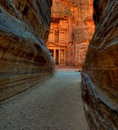 Petra, Jordan. Indiana Jones film locale maybe? Seems familiar. No matter. I want to go.