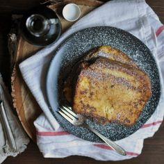 Custard Orange-Vanilla Brioche French Toast