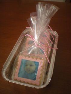 Galletas con foto comestible para celebrar la llegada de una dulce bebé!!