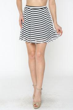 Striped A Line Skirt #ShopMCE
