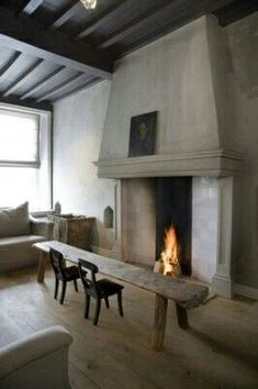 Fireplace and chalk paint Eclectic Living Room, House, Interior, Interior Inspiration, Home, Fireplace Design, House Interior, Interior Design, Home And Living