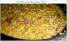 Slow Cooked Lentil and Quinoa Stew