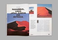El Mag is a bimonthly magazine that results from the collaborative effort of El Corte Inglês Gaia/Porto and Non–verbal Club, in order to create a cultural programme the retailer could offer to a broad audience in the city of Porto. Graphisches Design, Web Design Trends, Book Design, Editorial Layout, Editorial Design, Typography Inspiration, Graphic Design Inspiration, Travel Brochure Design, Travel Design