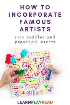 How To Incorporate Famous Artists into Toddler and Preschool Crafts Crafts for kids can be fun AND educational. Here are some tips for creating art based on famous artists and ideas for inspiration! Preschool Art Lessons, Process Art Preschool, Preschool Painting, Art Activities For Toddlers, Preschool Art Projects, Toddler Art Projects, Painting Activities, Toddler Crafts, Preschool Crafts