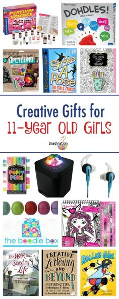 gifts for girls TWEEN GIFTS! Find cool gifts for 11 year old girls including books, games, technology, and art kits. Best Gifts For Girls, Tween Girl Gifts, Gifts For Teens, 11 Year Old Christmas Gifts, Christmas Girls, Christmas Ideas, Xmas, Christmas Stocking, Holiday Fun