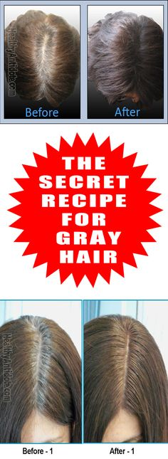 ONE OF THE EASIEST WAYS TO GET RID OF GRAY HAIR WITH ONLY TWO INGREDIENTS PLEASE REPIN THIS !