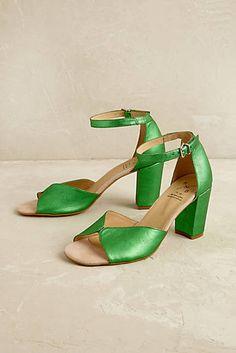 Emerald Metallic Heels