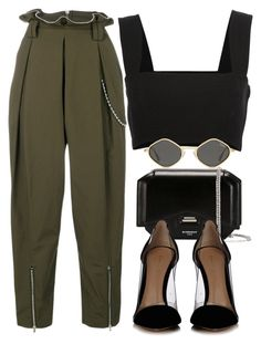 """Sin título #3809"" by camilae97 ❤ liked on Polyvore featuring Alexander Wang, Givenchy, Yves Saint Laurent and Gianvito Rossi"