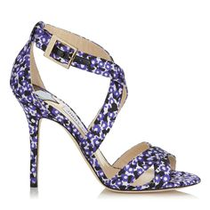 Violet Floral Printed Jacquard Sandals | Lottie | Spring Summer 15 | JIMMY CHOO Shoes