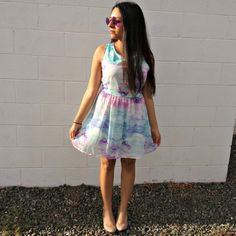 NEW POST ON #DollhouseLucy : wearing the sky (I adore this dress so much!) #fashionblogger #ootd #personalstyle #summerinspo #summerdress