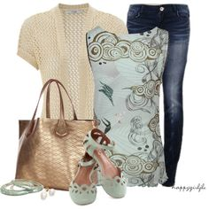 Barefeet Jeans by happygirljlc on Polyvore...  Love the graphics on the top.