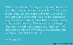 A Quote About Our Destiny