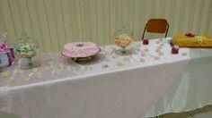 O bolo foi feito pela irmã Caren