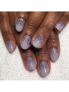Wedding Nail Art: 23 Bridal Manicure Ideas - Glittering lavender nails | allure.com