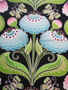 Auction Shopaholic: Gorgeous Flower and Insect Fabrics by Jane Sassaman