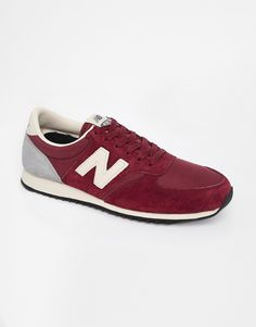 Enlarge New Balance 420 Burgundy Suede Trainers