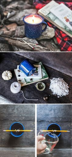 DIY: camp mug candle