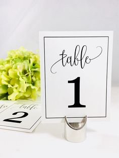 Wedding Table Decor, Table Numbers, Number Cards, Numbers For Tables, Wedding Numbers Wedding Reception Tables, Wedding Favors For Guests, Wedding Table Decorations, Wedding Table Numbers, Reception Ideas, Wedding Tags, Wedding Paper, Wedding Gifts, Wedding Ideas