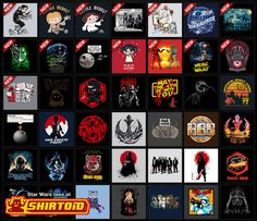 May the 4th Be With You! Hundreds of Star Wars tees at Shirtoid #starwars