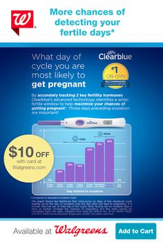 Accurately identify more of your fertile days with an ovulation test that measures 2 hormones, only available from Clearblue®. Follow the link for $10 OFF on Clearblue Ovulation Kit, ONLY at Walgreens. Go to Walgreens.com. Tap the Pin to learn more. Ovulation Test, Chances Of Getting Pregnant, Baby Planning, Trying To Conceive, Baby Fever, Fertility, Book Lists, Baby Names, Notebooks