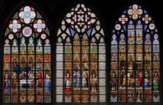 Minhas Coisas Vitrais na Catedral de St. Michael e St. Gudula, Bélgica