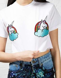 #ARKLOVES unicorn patches! The Ragged Priest Unicorn Patch Tee