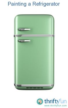 This guide is about painting a refrigerator. Sometimes remodeling involves changing the color of your refrigerator.