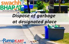 Please do not throw the #garbage on #streets, #parks, #workplaces, etc. Being a human, let's take a step to dispose garbage in the right way. Keep following #Swachh #Bharat #Abhiyan