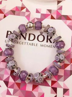 50% OFF!!! $499 Pandora Bangle Charm Bracelet Purple. Hot Sale!!! SKU: CB01755 - PANDORA Bracelet Ideas