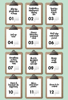 A 2016 calendar printable to keep you soothed, encouraged and inspired all year round.
