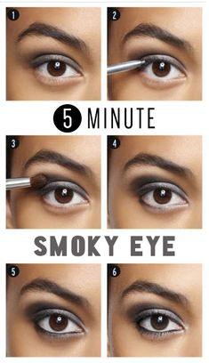 the 5 minute smoky eye.  #smokyeye
