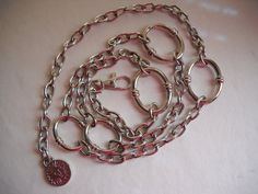 Fabulous Womens Silver Tone Chain Belt made by by vintagefinds61, $18.00