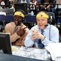 Memphis Grizzlies announcers- Pete Prannica & Brevin Knight. #GrindForth #BelieveMemphis #GrizzNation