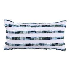 White and Blue Striped Lumbar Pillow - Threshold™ already viewed