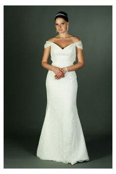 Swirl Illusion Ruched Dainty Off-the-shoulder Wedding Style