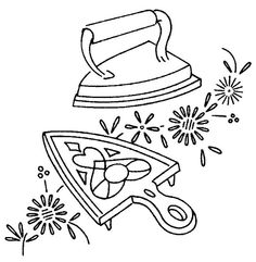 old fashioned iron - embroidery pattern