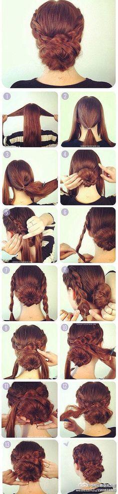 Un #tuto #chignon facile et classe. Gainez et faites briller vos cheveux avec : http://urlc.fr/I9Ljpd