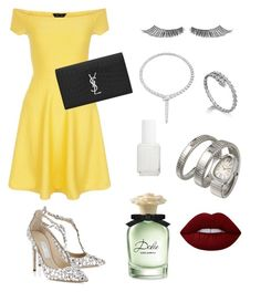 """""""✨"""" by fatimah42 on Polyvore featuring New Look, MAKE UP FOR EVER, Jimmy Choo, Bulgari, Yves Saint Laurent, Lime Crime, Essie and Dolce&Gabbana"""