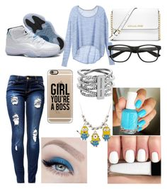 """""""Jordan Style #12"""" by nathaliemunoz101 ❤ liked on Polyvore featuring Victoria's Secret, MICHAEL Michael Kors, Casetify, Michael Kors, Essie, Holy Ghost and fabulous"""