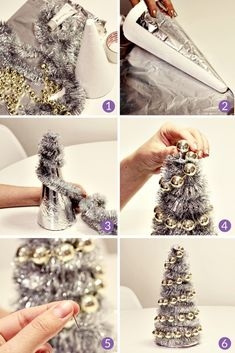 In this DIY tutorial, we will show you how to make Christmas decorations for your home. The video consists of 23 Christmas craft ideas. Silver Christmas Decorations, Christmas Pops, Cone Christmas Trees, Magical Christmas, Diy Christmas Ornaments, Christmas Crafts, Tree Decorations, Christmas Ideas, Theme Noel