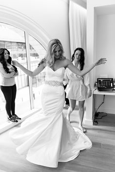 Boston Wedding at The State Room By Krista Photography Wedding Girl, Dream Wedding Dresses, Wedding Things, Wedding Stuff, Lazaro Bridal, Wedding Crashers, Wedding Pinterest, Mermaid Dresses, Here Comes The Bride