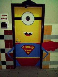 Super Minion! Classroom door.