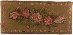Wool Floral Hooked Rug   Sale Number 2195, Lot Number 1075   Skinner Auctioneers