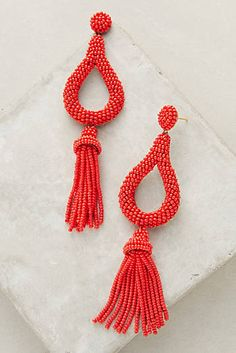 Jasmine Tassel Drop Earrings