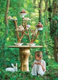 unreal dessert stand... I just love this picture it's so mystical and whimsy..