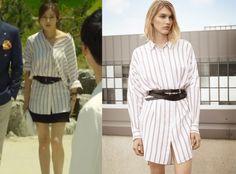 "Kang So Ra in ""Doctor Stranger"" Episode 20.  Maje Folio Striped Shirt Dress #Kdrama #DoctorStranger #닥터이방인 #KangSoRa #강소라"