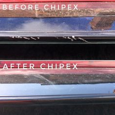 Mark Georgetti's before and after #Chipex pictures of this XC60 after being chewed up by a horse!